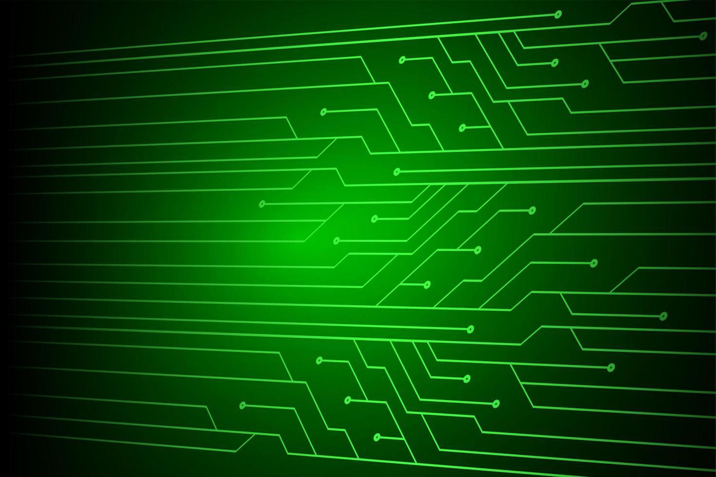 eenvoudige groene cybercircuit toekomstige technologie vector