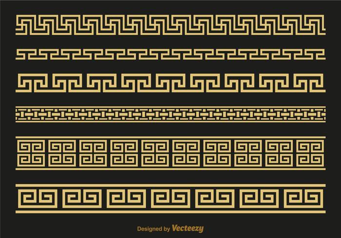 Gratis Versace Griekse Sleutelborstels Vector