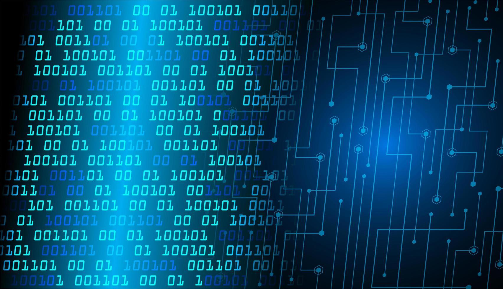 blauwe cyber circuit toekomstige technische achtergrond vector