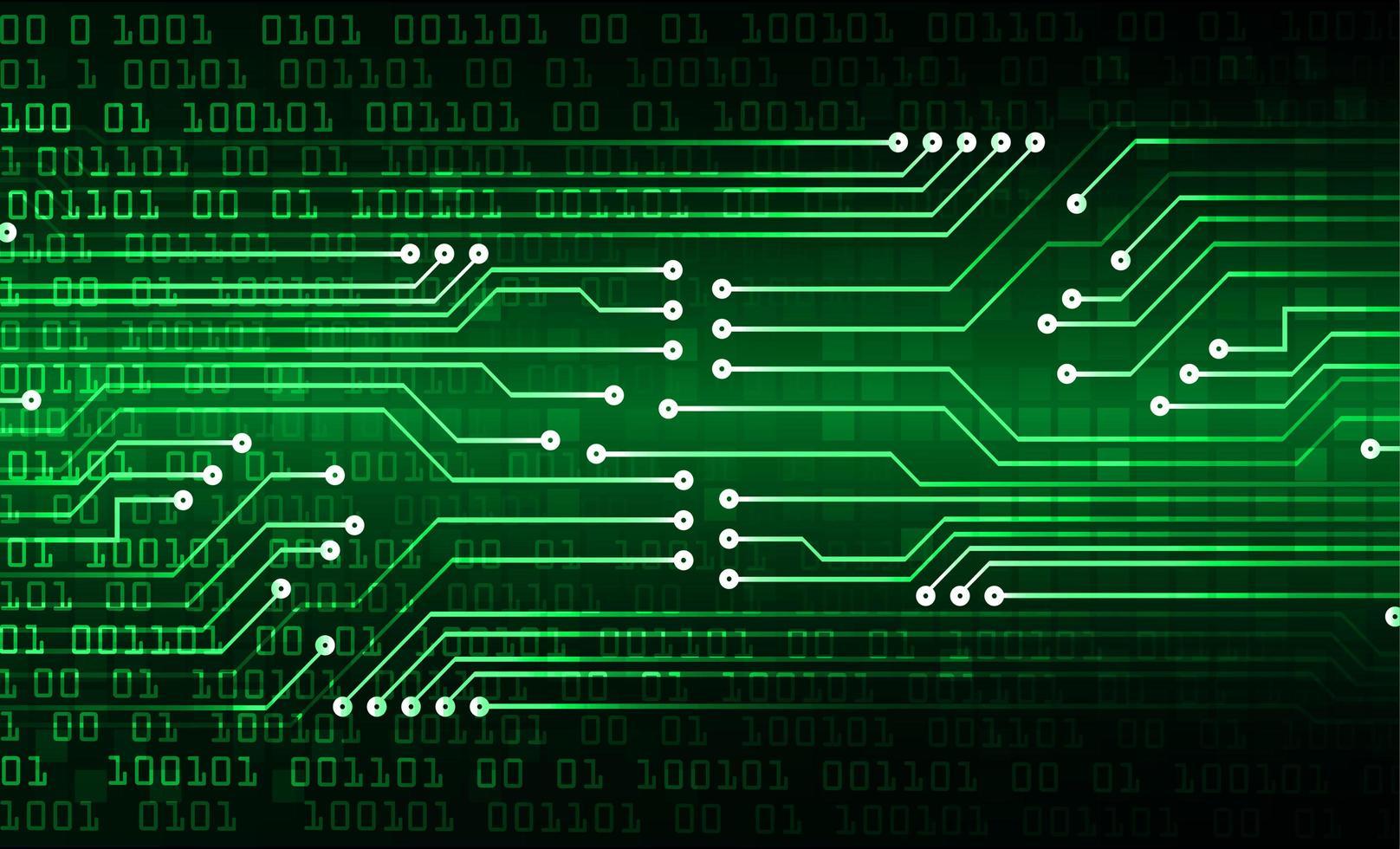 groene cyber circuit toekomstige technische achtergrond vector