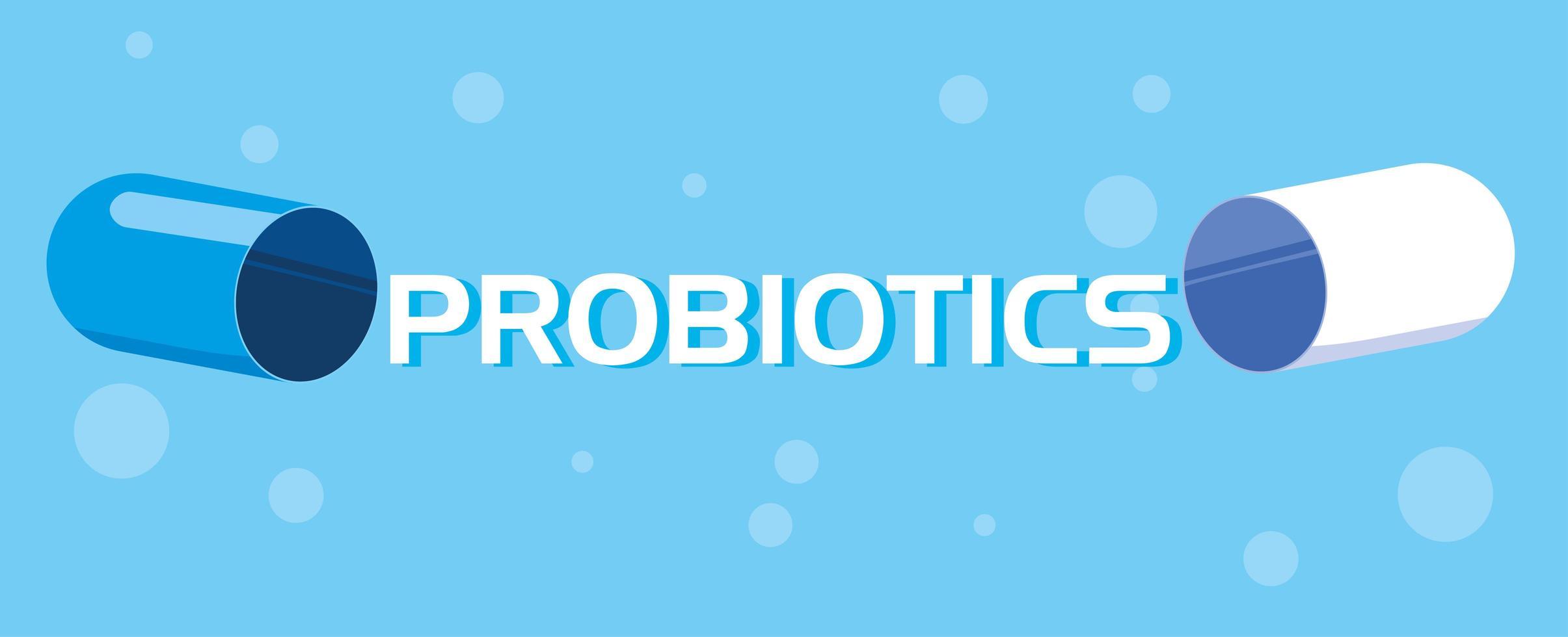 probiotische geneeskunde capsule pictogram vector