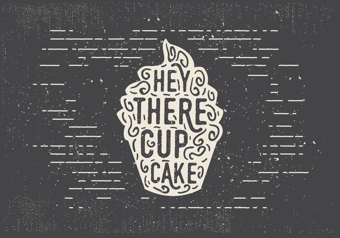 Vrije Hand Getrokken Zoete Cupcake Achtergrond vector