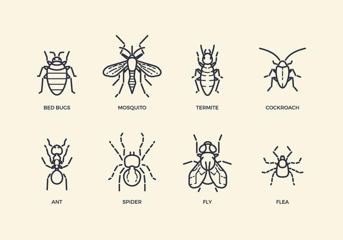 Gratis Pest & Insect Pictogrammen vector