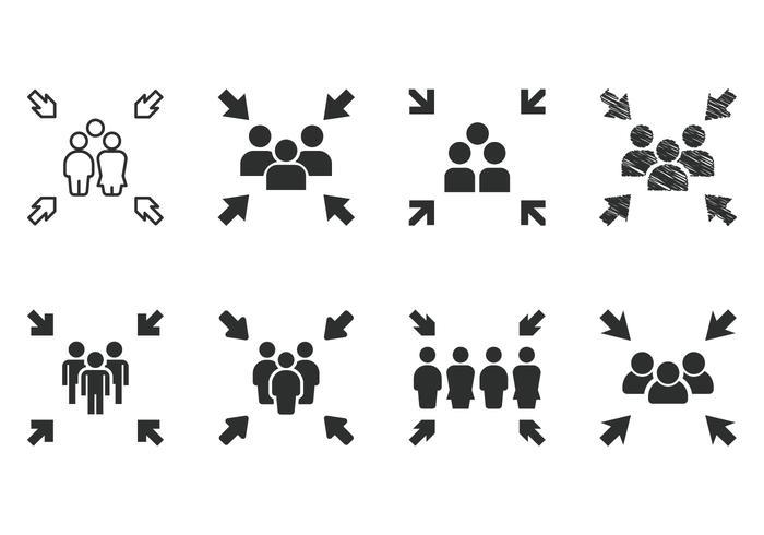 Ontmoetingspictogrammen vector