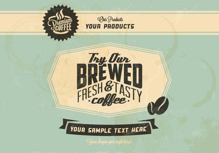Vintage Koffie Logo Vector