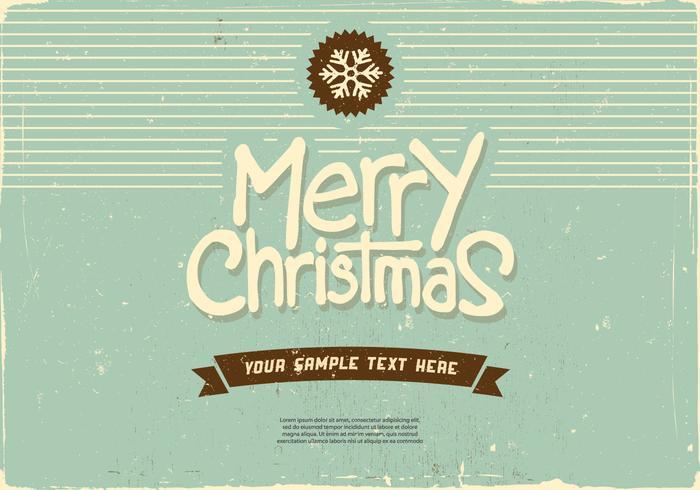Vrolijke Kerstmis Sneeuwvlok Vector
