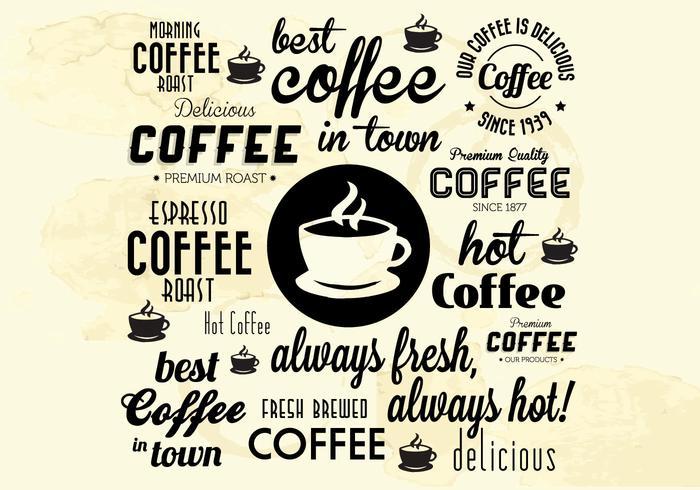 Beste Hete Koffie Gebleekte Vector