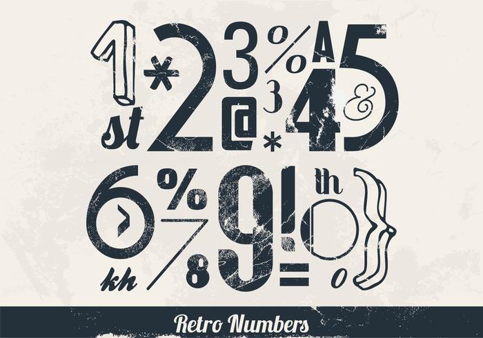 Nummers en Symbolen Vector