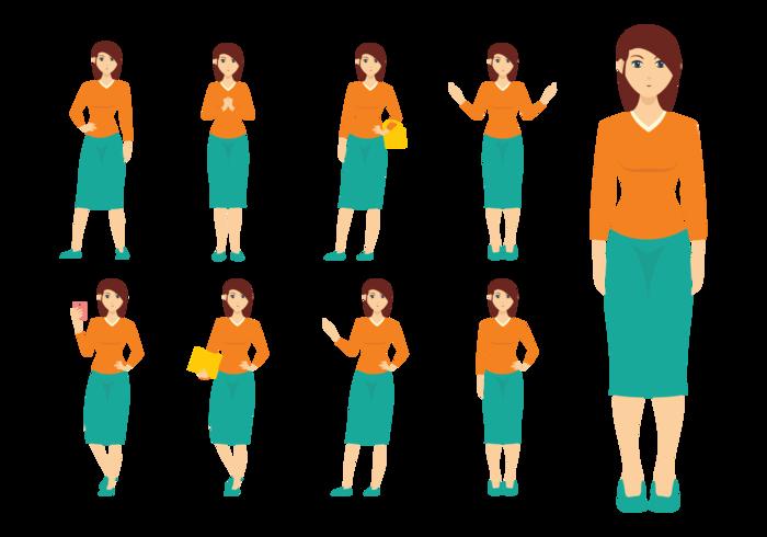 Mujer vectoren