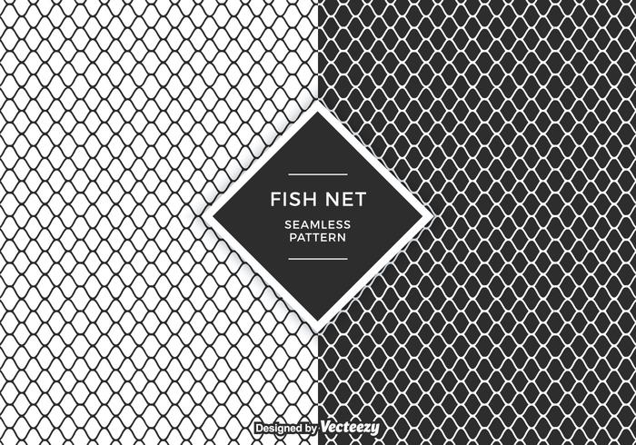 Fish Net Vector Patroon