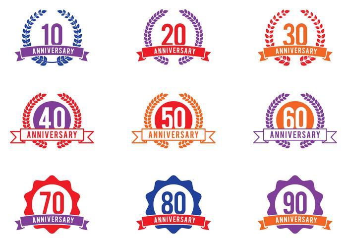 Anniversary Celebration Emblemen vector