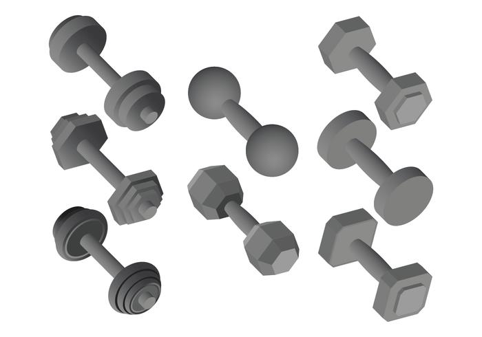 Dumbell Vector Pictogrammen