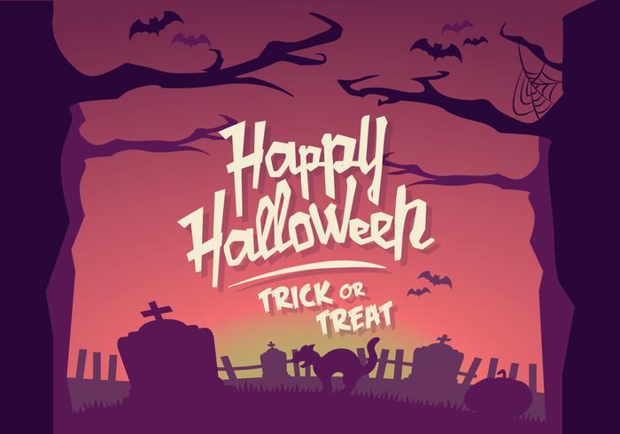 Halloween horizon vector