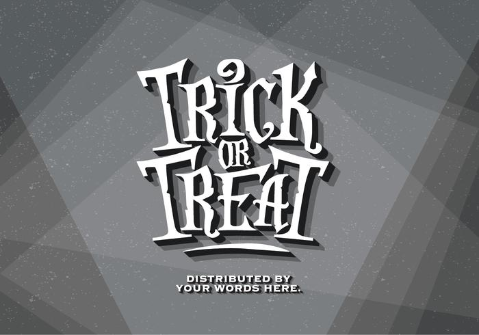 Trick-or-Treat Oude Film Vector