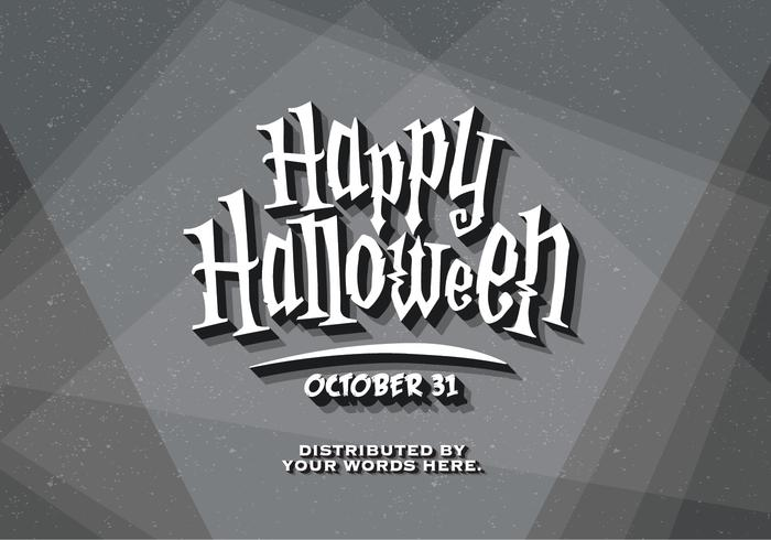 De vintage Kaart van het Titel van Halloween vector
