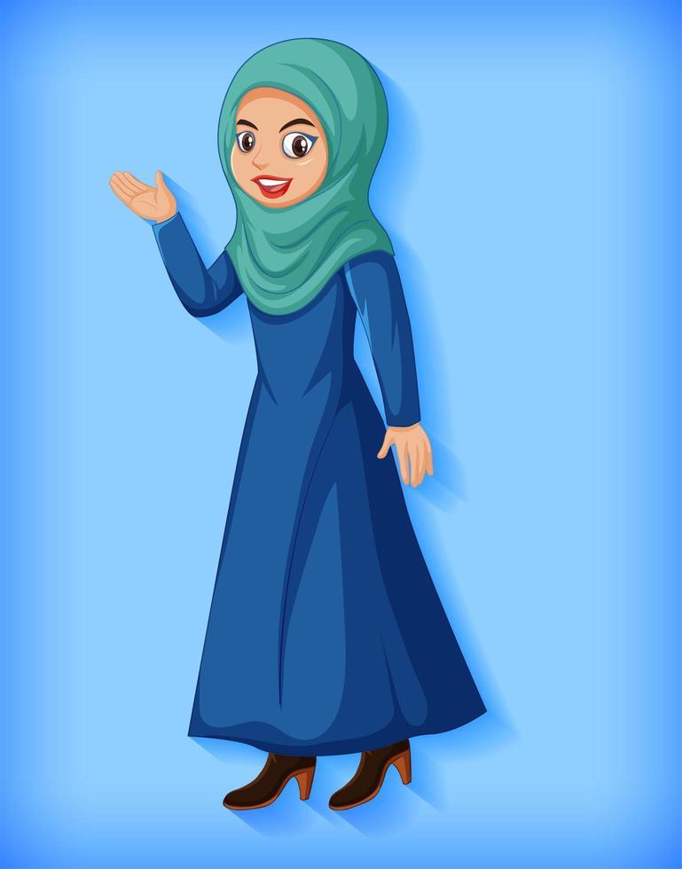 mooie Arabische dame stripfiguur vector