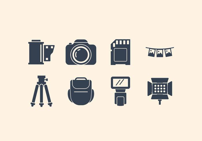 Gratis Camera En Fotografische Pictogram Set vector
