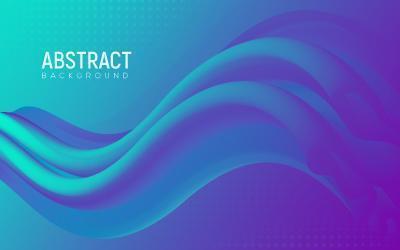 abstract verloop 3D-vorm vloeibaar ontwerp vector