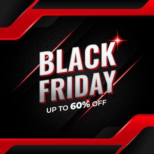 zwarte vrijdag sociale media verkoop banner vector