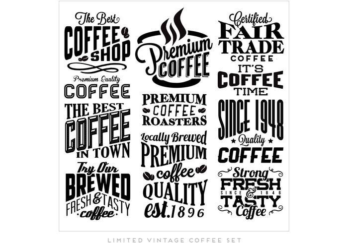 Beste Koffie Collectie Vector