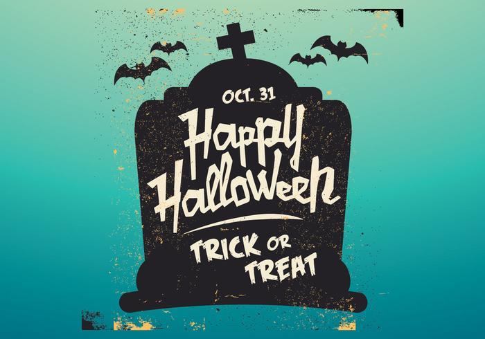 Grafsteen Halloween Vector