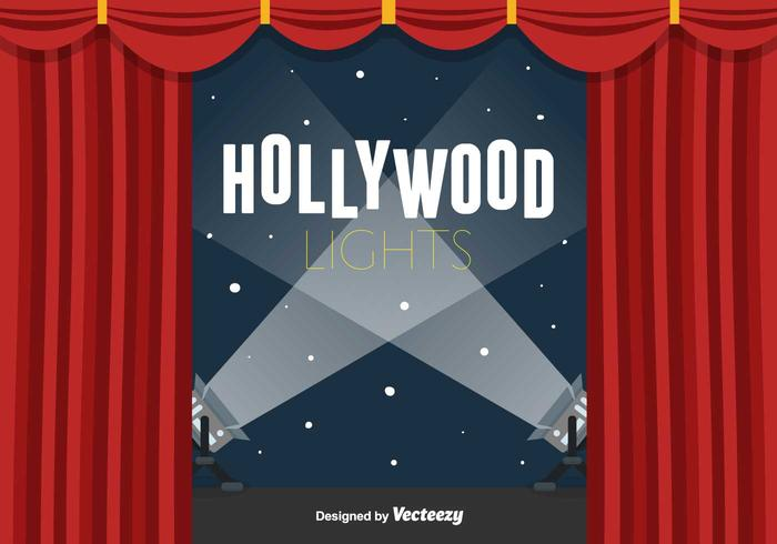 Hollywood Lights Vector Achtergrond