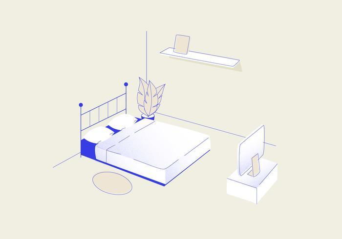 Slaapkamer Vectorillustratie vector