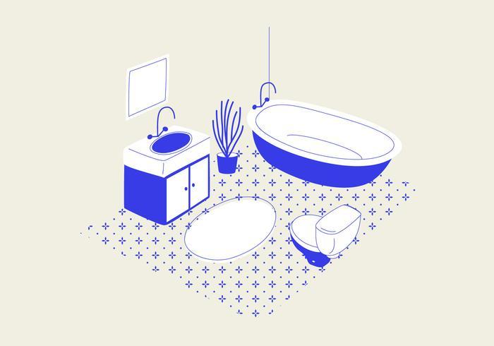 Badkamer Vectorillustratie vector