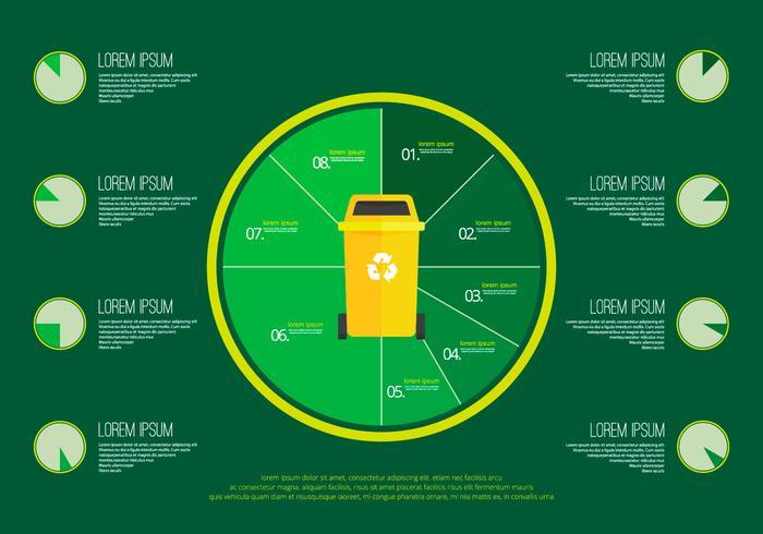 Afval- en vuilnisinfografische sjabloon vector