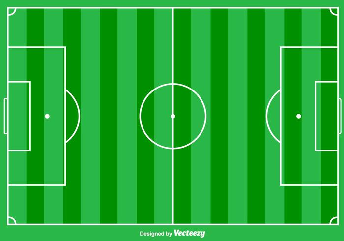 Football Ground Vector Achtergrond