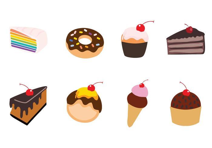 Gratis Sweet Cake Vector Illustration