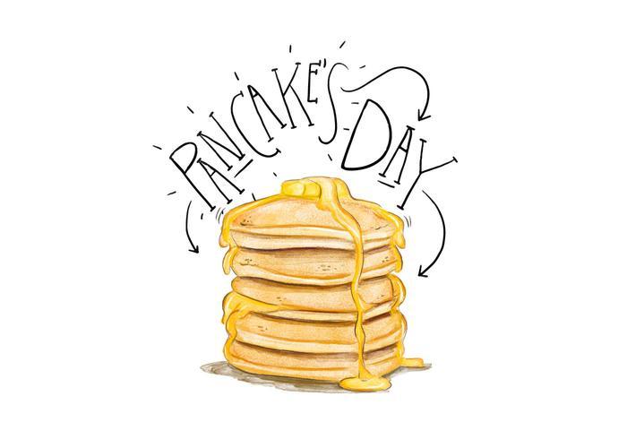 Pancake's Day Illustration vector