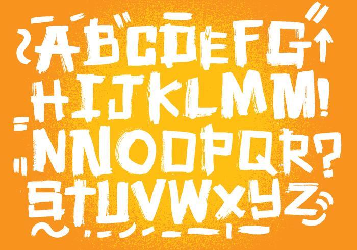 Messy Brush Alphabet vector