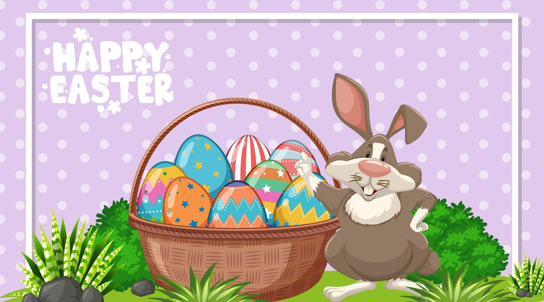 posterontwerp voor Pasen met paashaas vector