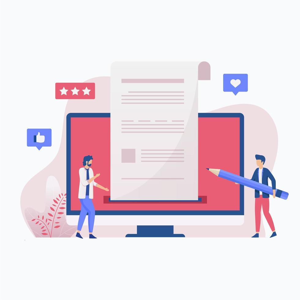 creatief schrijven concept vector