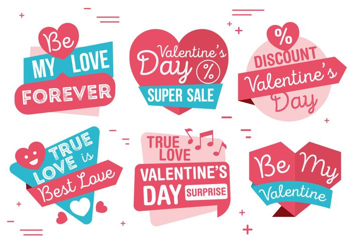 Vector Valentijnsdag Etiketten