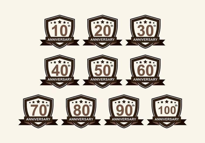 Anniversary badge Vector Pack