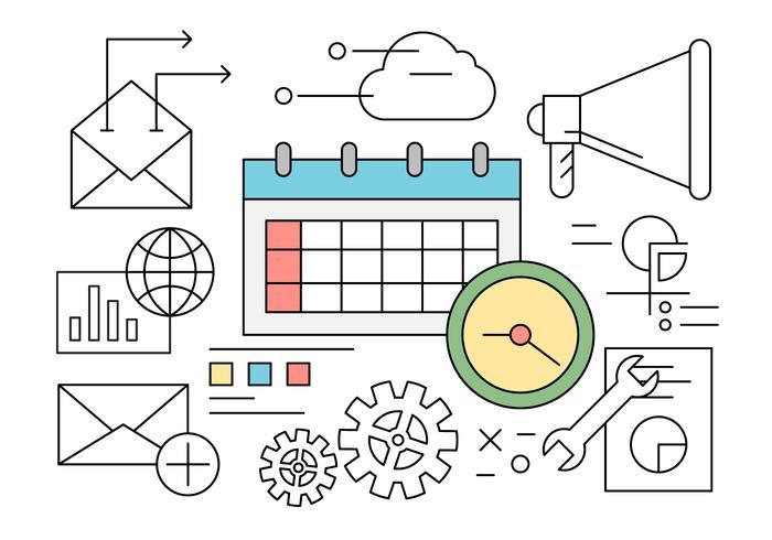 Gratis Bedrijfs en bureaupictogrammen vector