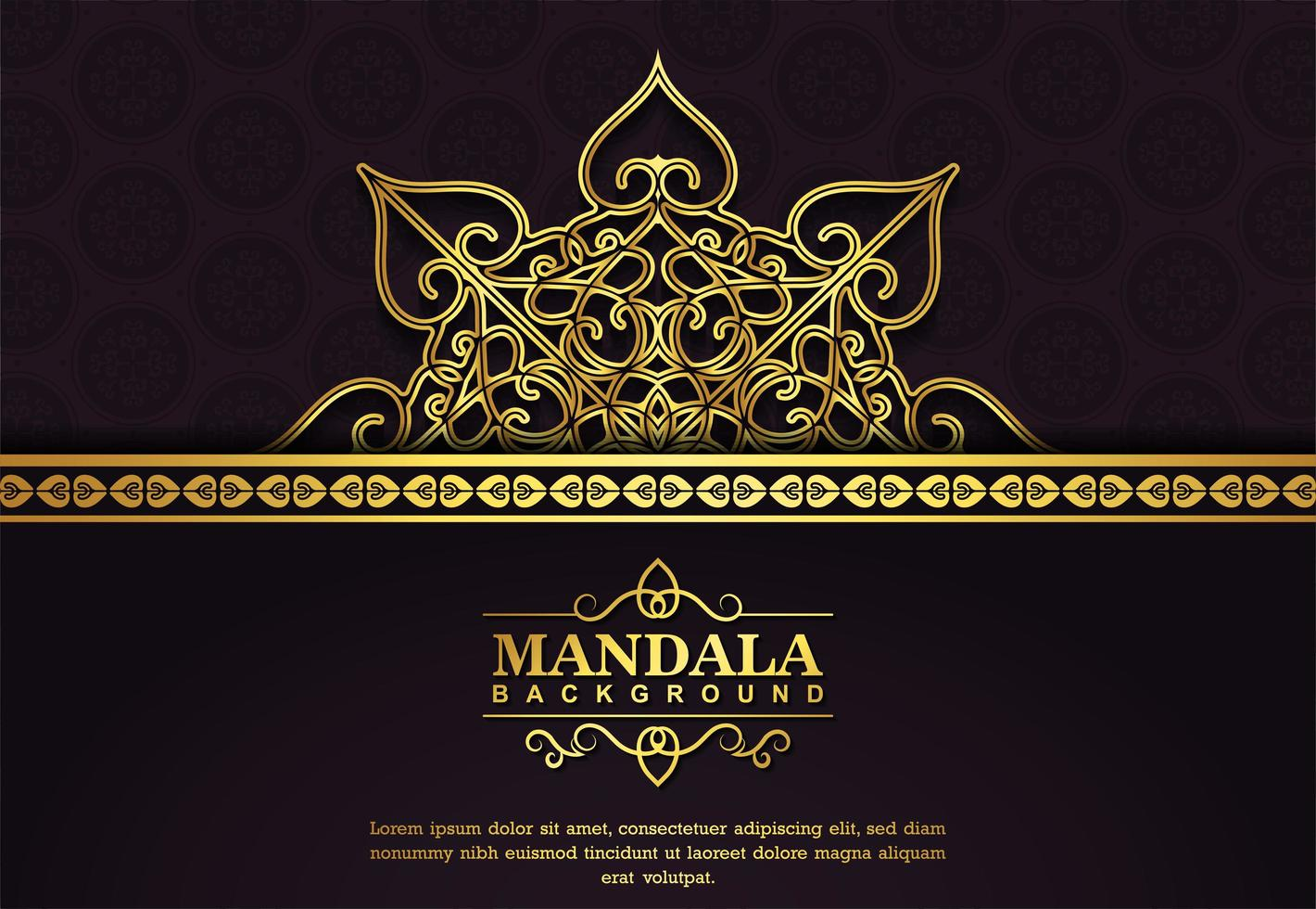 luxe mandala achtergrond vector