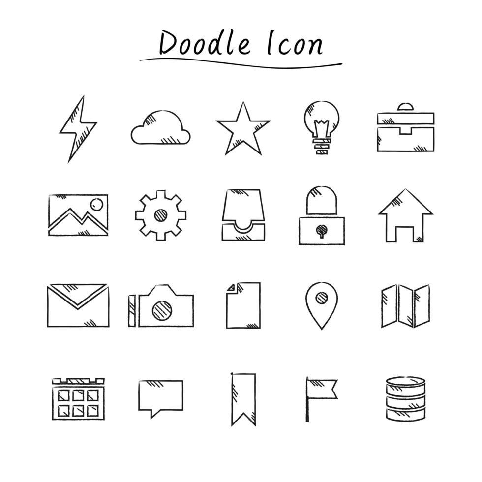 doodle onderwijs pictogrammen vector