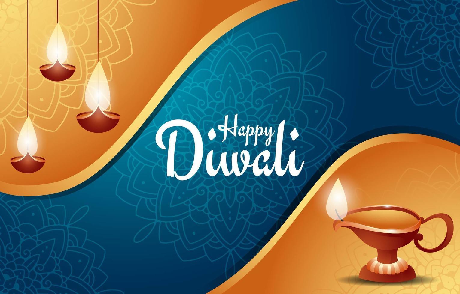 gelukkige diwali festival achtergrond vector