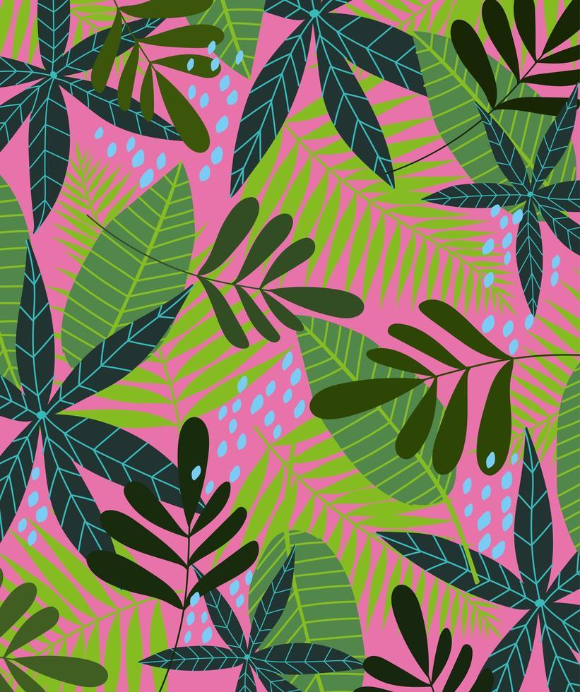 tropische bladeren en gebladerteachtergrond vector