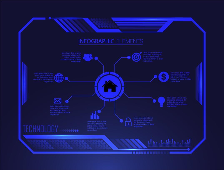 binaire printplaat toekomstige technologie hud vector