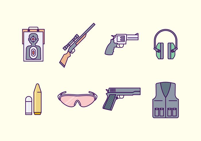 Gratis Shooting Range Icon vector