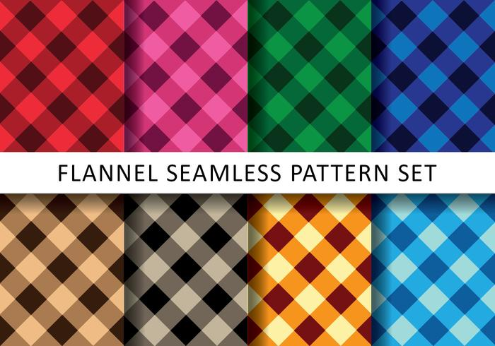 Kleurrijke Flanel Pack vector