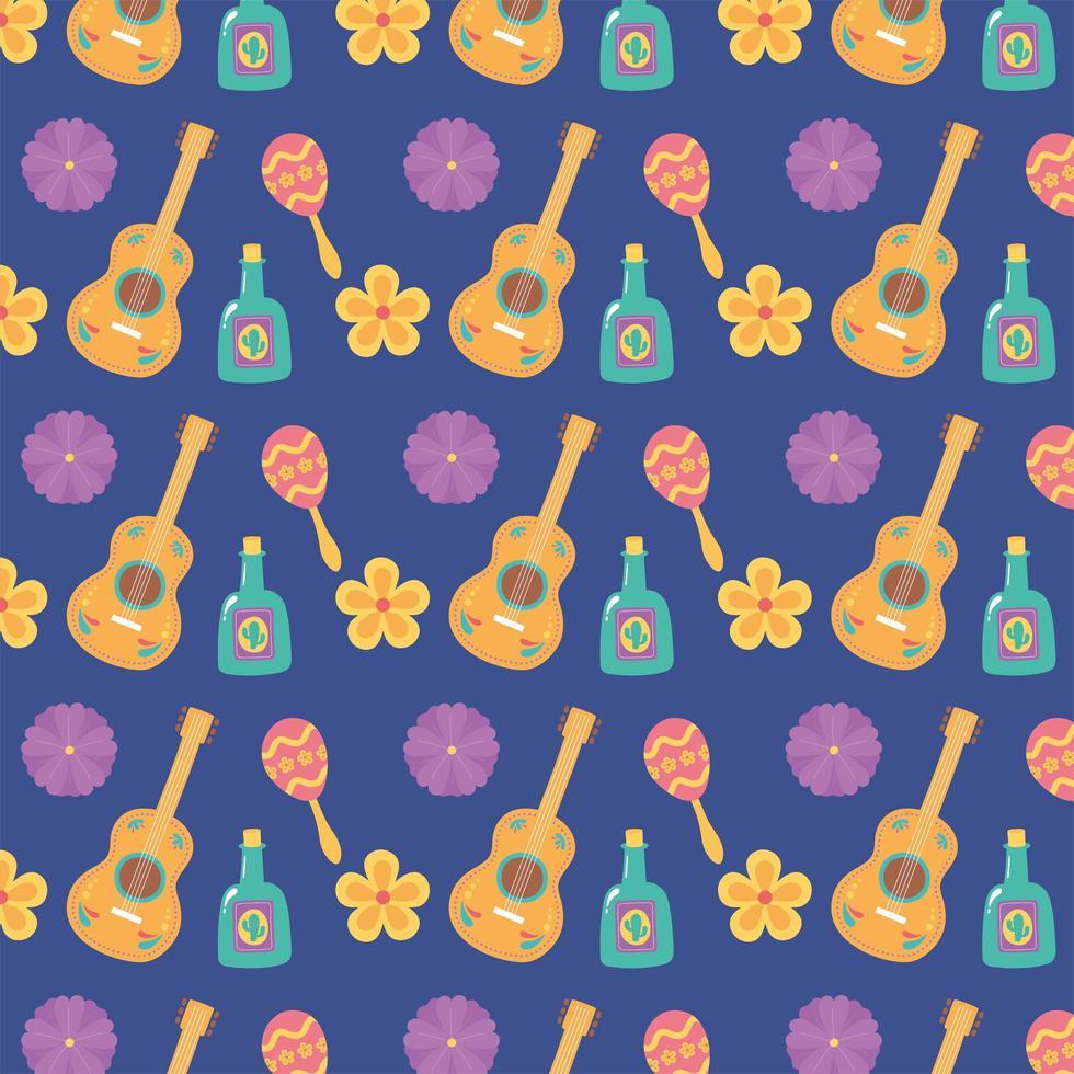leuke patroonachtergrond voor Mexicaanse viering vector