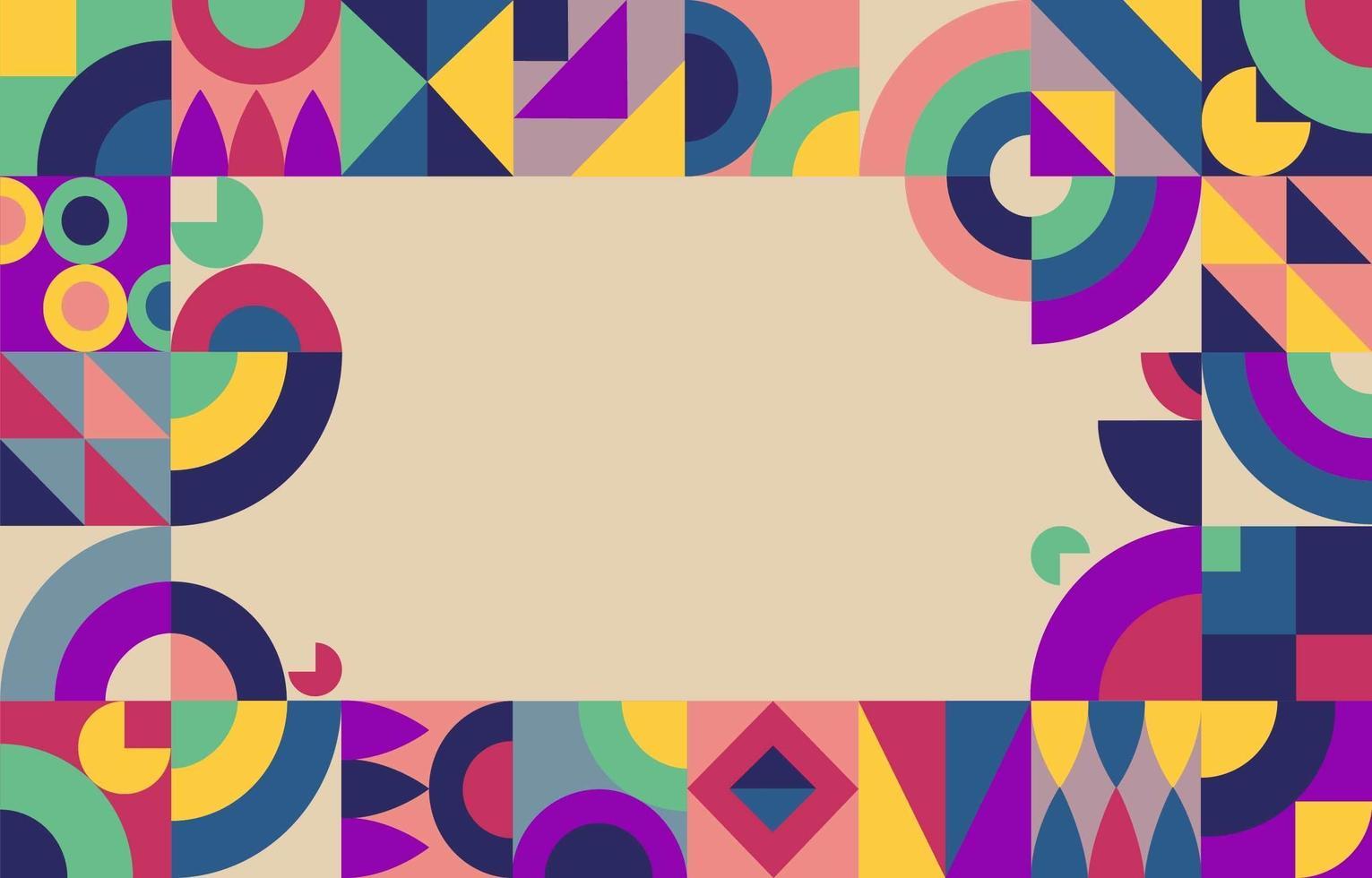 minimalistische kleurrijke geometrische achtergrond vector