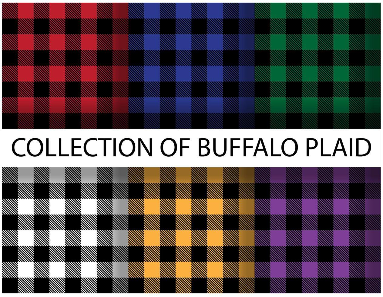 kleurrijke buffels geruite naadloze patronen vector
