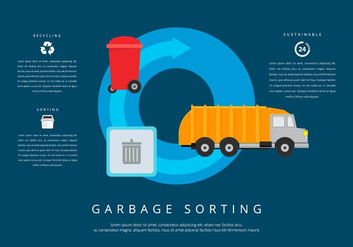 Landfill Garbage sorteren vector