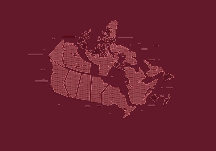State Schetst Canada Vector